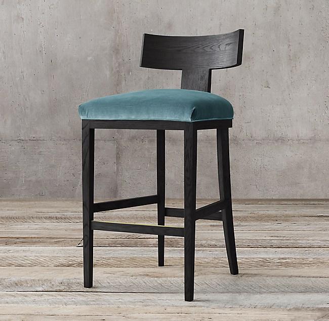 Enjoyable Contemporary Klismos Fabric Stool Inzonedesignstudio Interior Chair Design Inzonedesignstudiocom