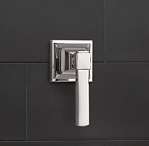 Dillon Lever-Handle Flow Control Valve & Trim Set for Thermostatic Systems