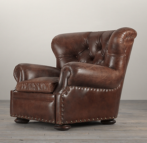 Tufted Barrel Chair With Nailheads Chairs Seating