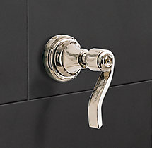 Campaign Lever-Handle Multi-Port Diverter Valve & Trim Set for Balanced Pressure Systems
