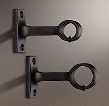 Dakota End Bracket (Set of 2) - Soft Iron