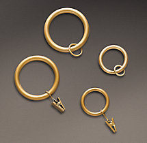 Classic Drapery Rings (Set of 7) - Antique Brass