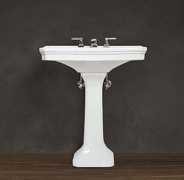 Small Basin With Pedestal : Park Pedestal Sink