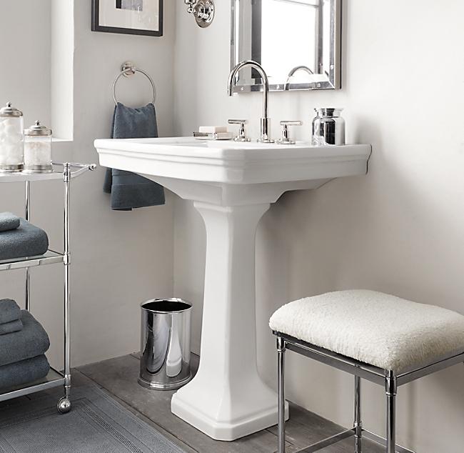 hook up pedestal sink