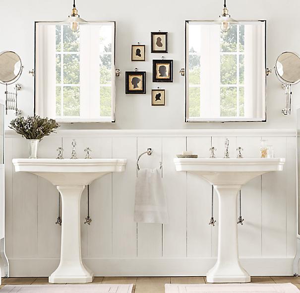 Bathroom Vanity Lighting Ideas And The 2 1 Design Rule: Park Pedestal Sink