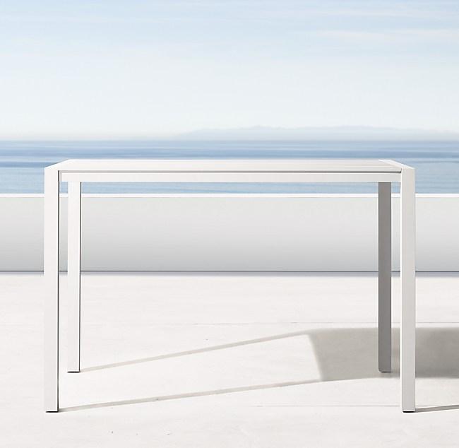 Aegean Aluminum 64 Bar Table