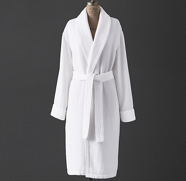 premium selection select for genuine top brands Linen Terry Spa Robe