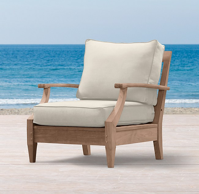 Magnificent Santa Monica Teak Luxe Lounge Chair Onthecornerstone Fun Painted Chair Ideas Images Onthecornerstoneorg