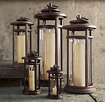 Avignon Round Lanterns – Weathered Bronze