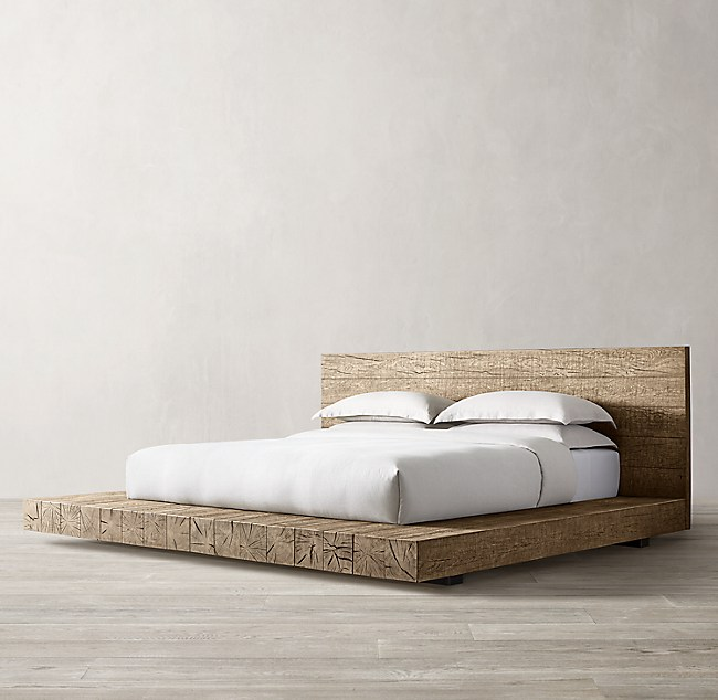 Aspen French Oak Platform Bed