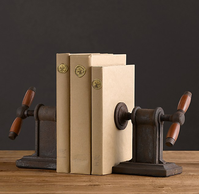 Vise Bookends Set Of 2