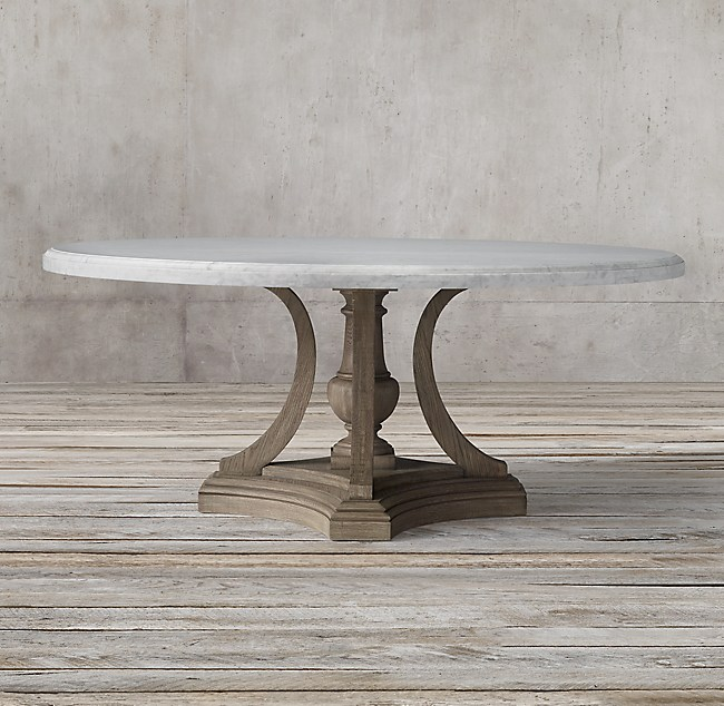 St James Marble Round Dining Table