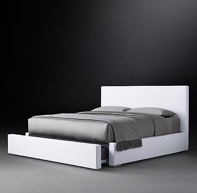 Modena Panel Nontufted Fabric Platform Bed
