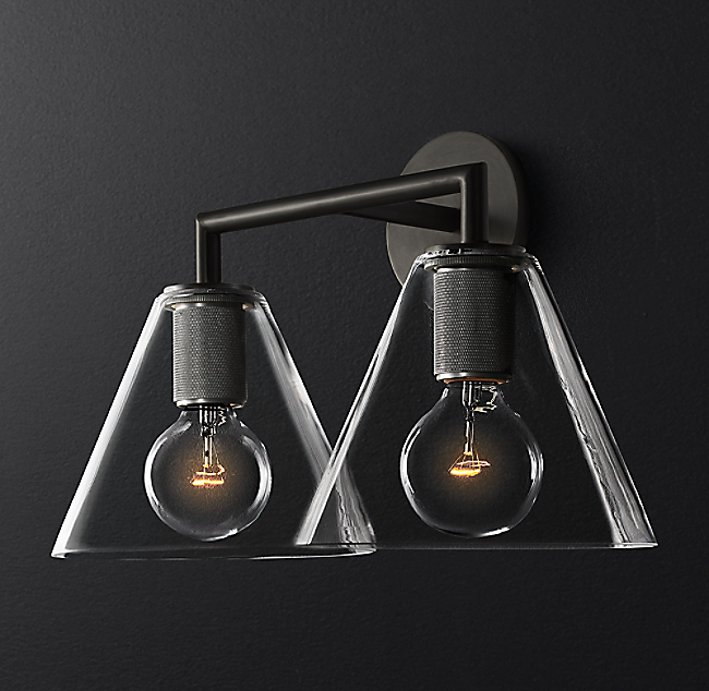 8ed0b93b8ec7 Utilitaire Funnel Shade Double Sconce