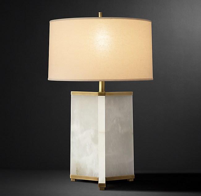 Villemont Alabaster Table Lamp