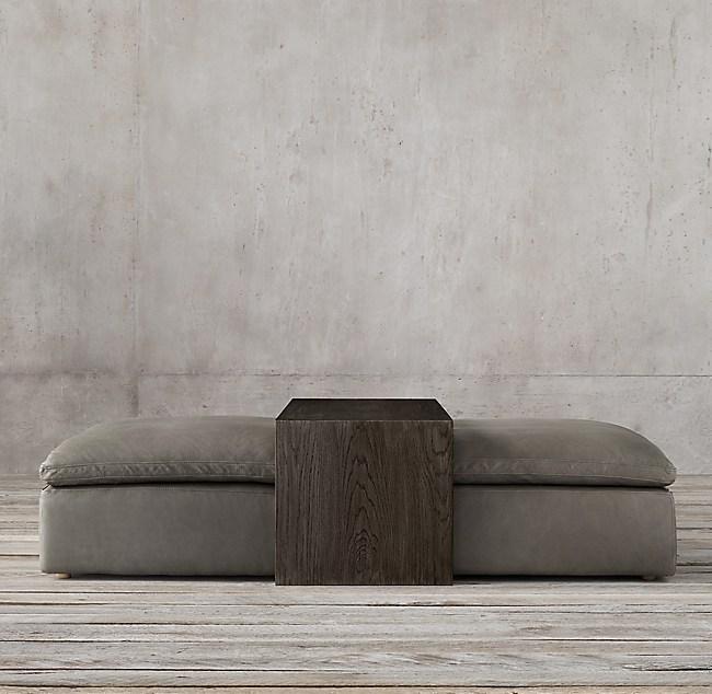 Terrific Cloud Modular Leather Waterfall Coffee Table Ottoman Ncnpc Chair Design For Home Ncnpcorg