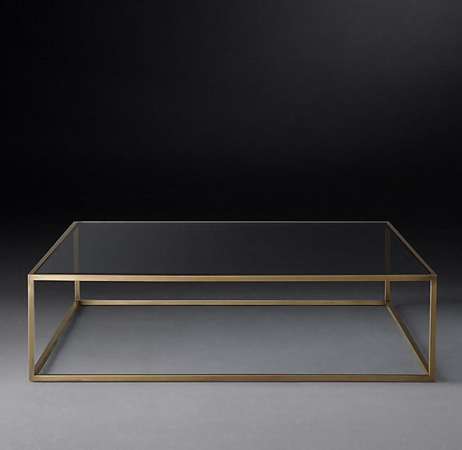 nicholas glass square coffee table