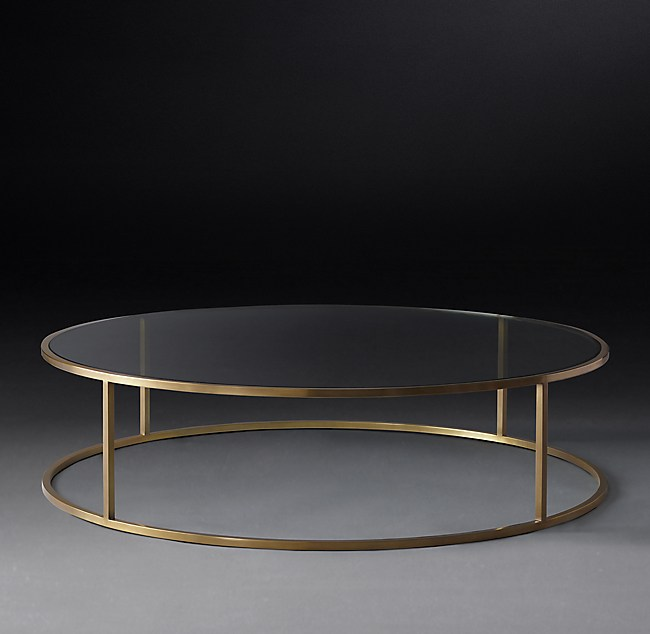 Nicholas Glass Round Coffee Table
