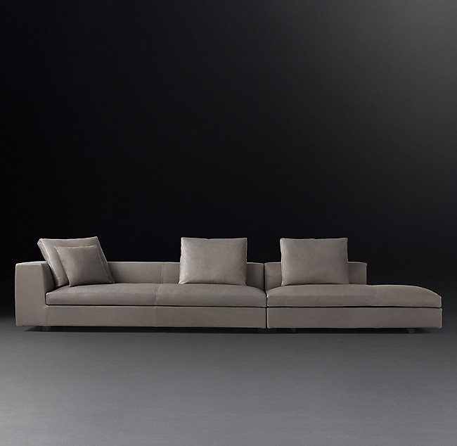 Groovy Magnus Leather Left Arm Open Sofa Interior Design Ideas Ghosoteloinfo