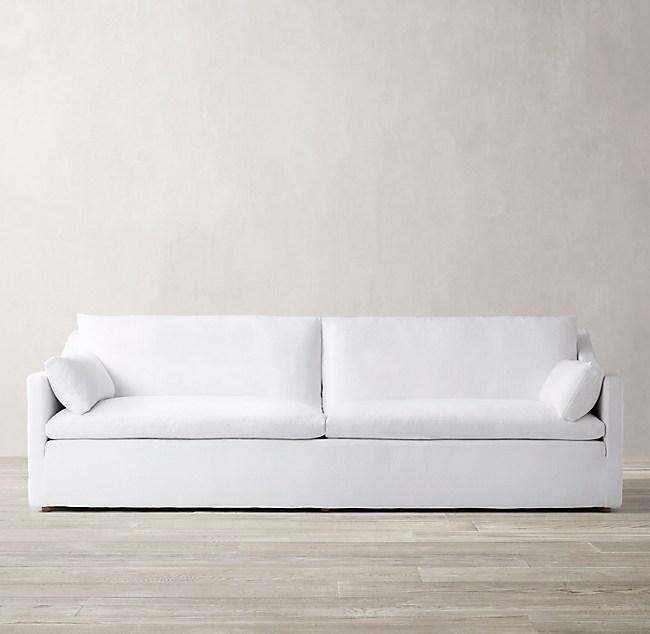 Cloud Slope Arm Two Seat Cushion Sofa