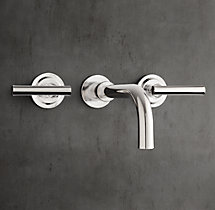 Spritz Wall Mount Sink Faucet Set