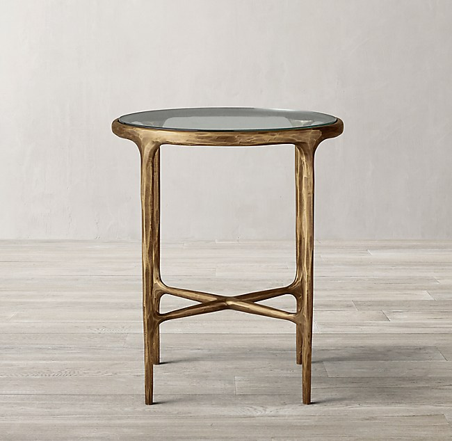 Thaddeus Glass Round Side Table