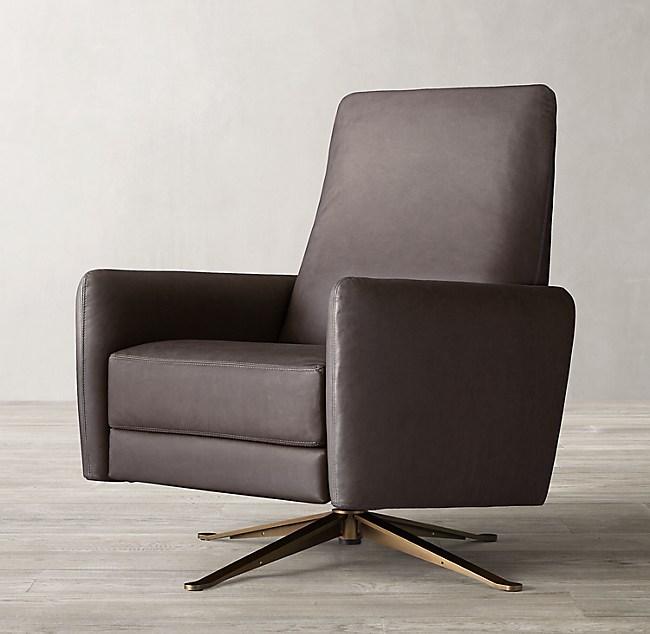 Phenomenal Otto Leather Swivel Recliner Short Links Chair Design For Home Short Linksinfo