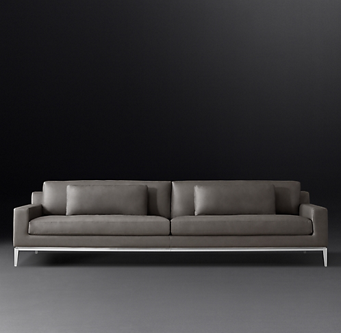 Italia Track Arm Leather Sofa