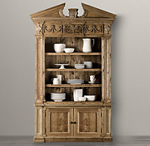 Entablature Sideboard & Open Hutch