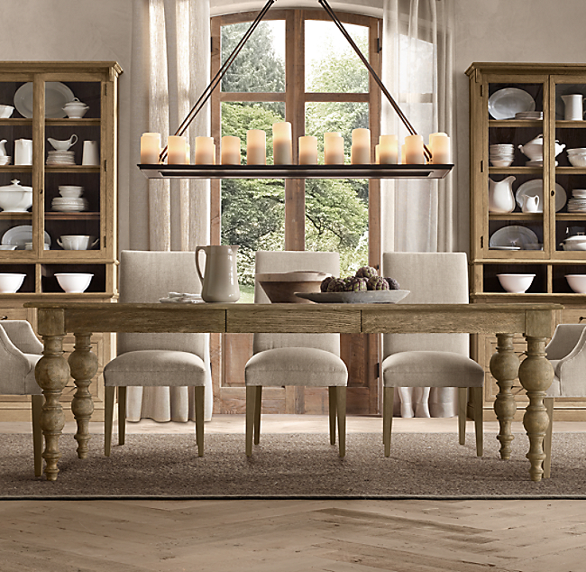 Grand Baluster Rectangular Extension Dining Table Click To Zoom