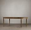 Vintage French Fluted Leg Extension Dining Table