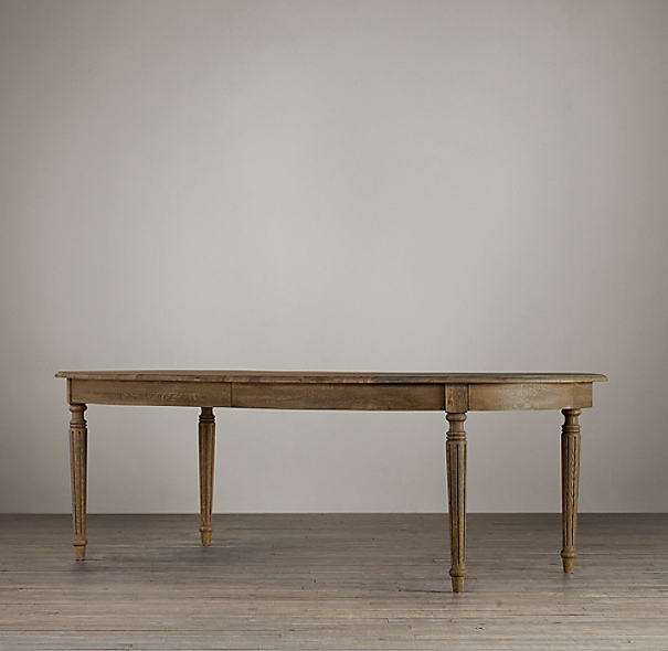 Restoration Hardware French Coffee Table: Vintage French Fluted-Leg Extension Dining Table