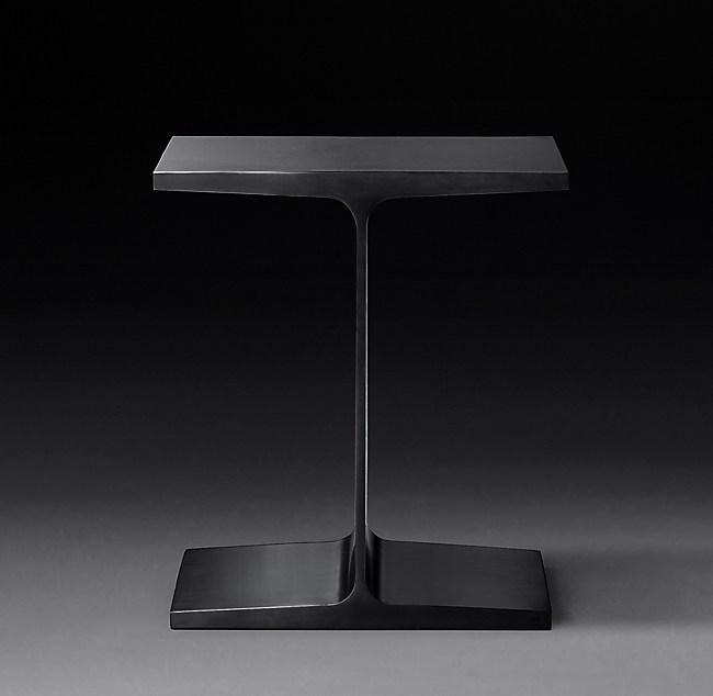 I Beam Steel Rectangular Side Table