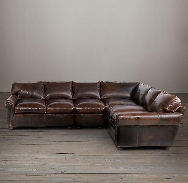 Original Lancaster Leather L Sectional