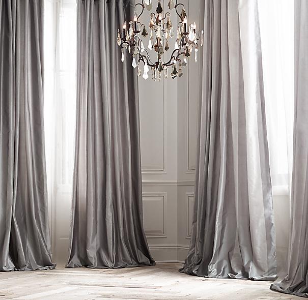 23 Gold Curtains Diversity In Use: Silk Taffeta Pavilion Stripe Drapery