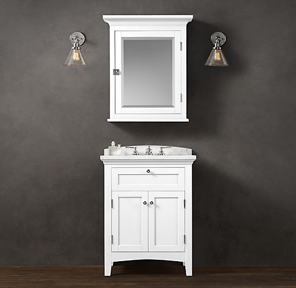 Cartwright powder room vanity sink for Powder bathroom vanities
