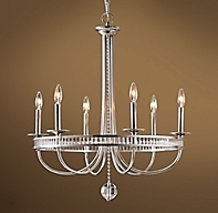 Alexandria Chandelier Antique Silver Plater