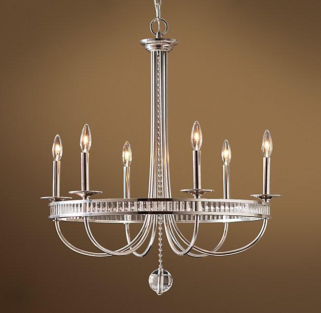 - Alexandria Chandelier Antique Silver Plater