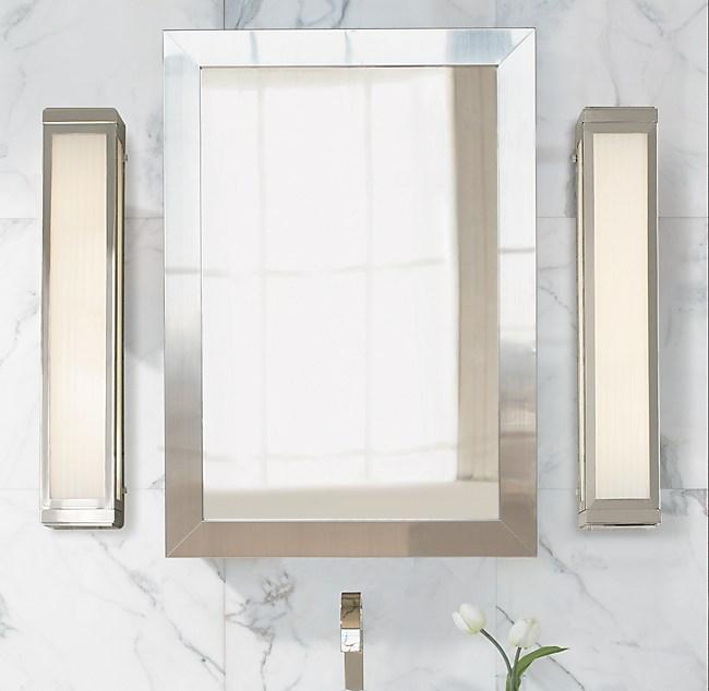 Wide-Frame Wall-Mount Medicine Cabinet