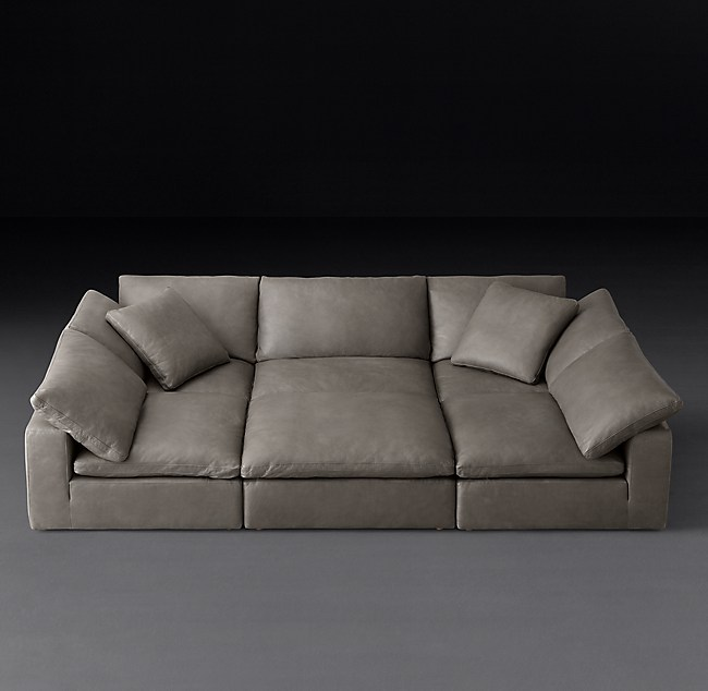 Cloud Modular Leather Pit Sectional