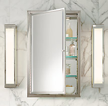 Framed Lit Right-Opening Inset Medicine Cabinet