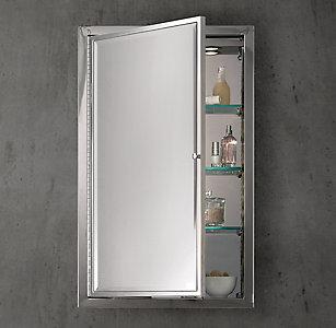Framed Lit Right Opening Inset Medicine CabinetAll Bath Mirrors   RH. Restoration Hardware Bathroom Mirrors. Home Design Ideas