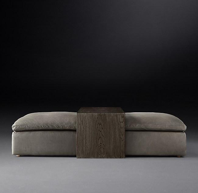 Superb Cloud Modular Leather Waterfall Coffee Table Ottoman Ncnpc Chair Design For Home Ncnpcorg
