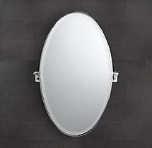 Campaign Oval Pivot Mirror