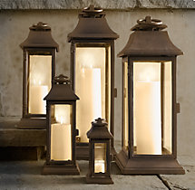 Savoy Square Lanterns - Weathered Bronze