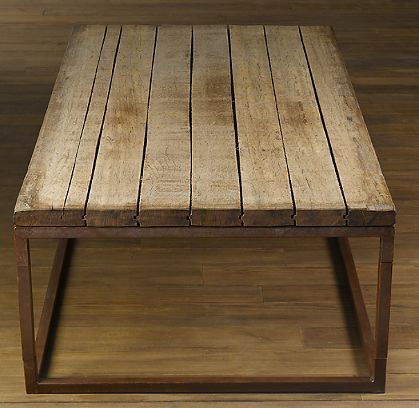 Restoration Hardware Reclaimed Teak Coffee Table: Brickmaker's Coffee Table