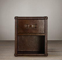 Mayfair Steamer Trunk 1-Drawer Cube - Vintage Cigar