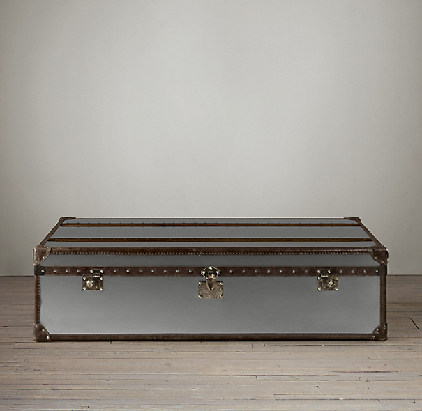 mayfair steamer trunk extra large coffee table