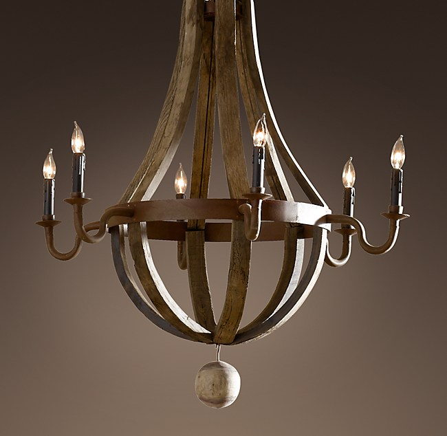 Wine barrel chandelier 32 aloadofball