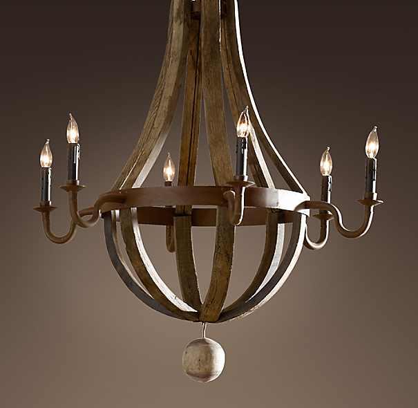 Restoration Hardware Light Fixture Sale: Wine Barrel Chandelier 32""